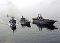 US Navy 090206-N-5253W-085 USS Tortuga (LSD 46) and USS Essex (LHD 2) steam alongside USNS Rappahannock (T-AO 204).jpg