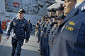 US Navy 100106-N-8273J-145 Chief of Naval Operations (CNO) Adm. Gary Roughead, left, answers questions from Sailors aboard the guided-missile destroyer USS Sampson (DDG 102).jpg