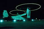 US Navy 100414-N-2735T-025 An MV-22B Osprey assigned to Marine Medium Tiltrotor Squadron (VMM) 162 prepares to take off from the amphibious assault ship USS Nassau (LHA 4).jpg