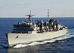 US Navy 101010-N-8913A-153 li Military Sealift Command-rapide kontraŭbatalas subtenŝipon USNS arktajn (T-AOE 8) paŭzojn for de la aviadilŝipo USS Geo.jpg