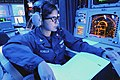 US Navy 110630-N-KB052-665 Sonar Technician (Surface) 1st Class Jessica Bonilla, from Inglewood, Calif., stands the surface warfare coordinator wat.jpg