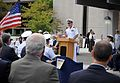 US Navy 110907-N-AW702-015 Capt. Lynn Welling, commanding officer of Naval Hospital Jacksonville, speaks at a grand opening ceremony.jpg