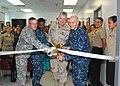 US Navy 120109-N-CD652-001 Leadership at Guantanamo Bay cut a ribbon officially opening U.S. Naval Hospital Guantanamo Bay's newly renovated Primar.jpg