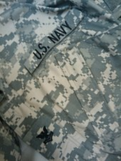 The ACU of a U.S. Navy sailor attached to a U.S. Army unit during the Iraq  War bc81cfa4ec5b