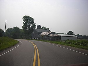 U.S. Route 6 in Pennsylvania - US 6 eastbound west of Conneaut Lake