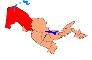 Political Map of Karakalpakstan