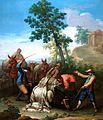 Un mulo caído con su carga, de Ginés Andrés de Aguirre (Museo del Prado).jpg