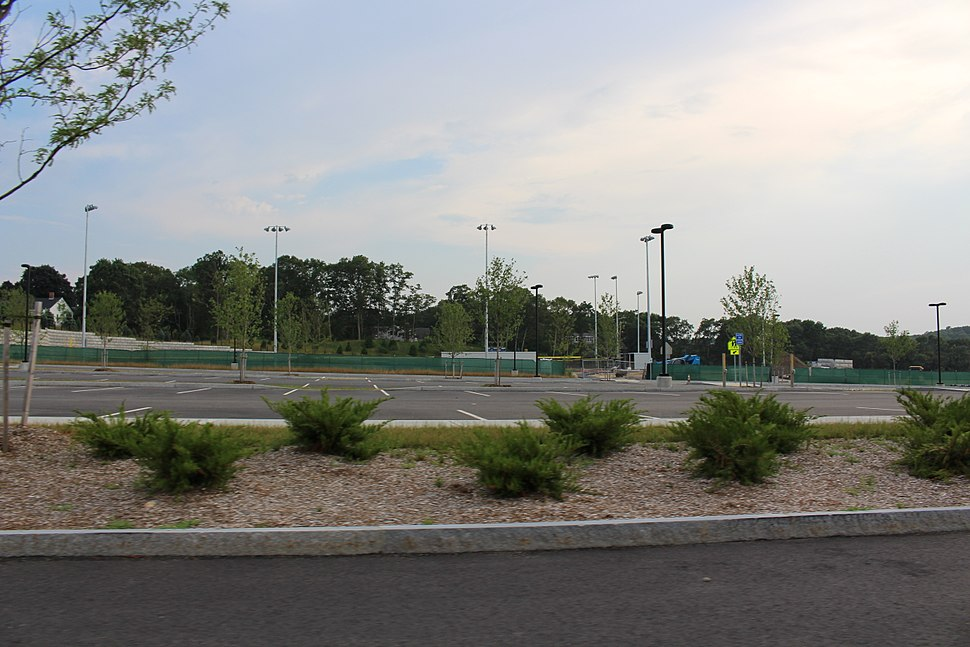 Unfinished athletic fields at Plymouth North High School