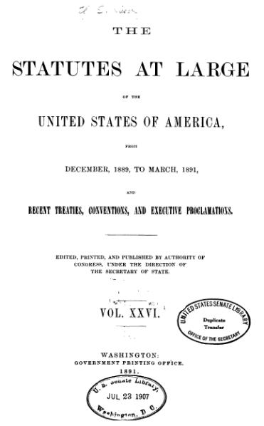 File:United States Statutes at Large Volume 26.djvu