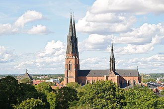 Lutheranism by region - The Uppsala Cathedral, the headquarters of the Church of Sweden.