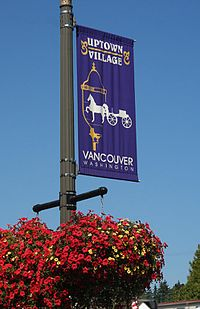 The banner of the Uptown Village neighborhood.