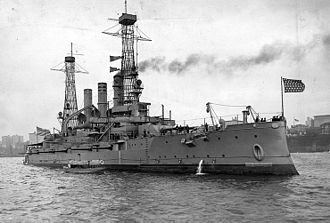 USS New Hampshire (BB-25) - New Hampshire in New York c. 1911