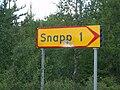 Vägskylt som visar vägen till Snapp i nordvästra Skellefteå kommun.jpg