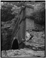 VIEW OF NORTH PORTAL. - Baltimore and Ohio Railroad, Point of Rocks Tunnel, Point of Rocks, Frederick County, MD HAER MD,11-PORO.V,1-2.tif