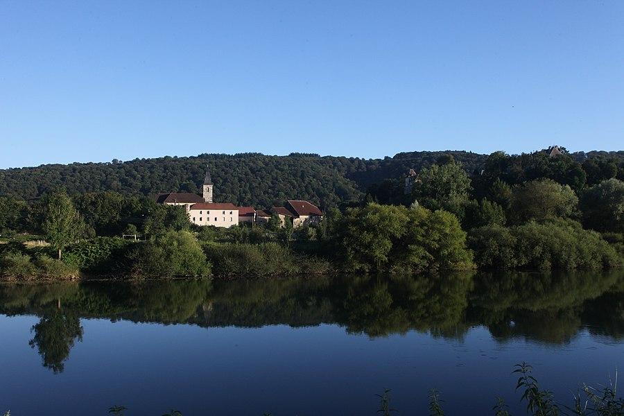 Vue de Vaire-Arcier (Doubs).