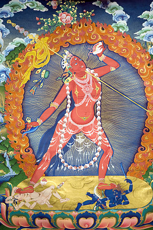 Vajrayogini - Painting of Vajrayoginī in the form of Nāropa's Ḍākinī