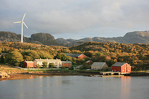 Renewable energy in Norway - Wind turbine in Bjugn