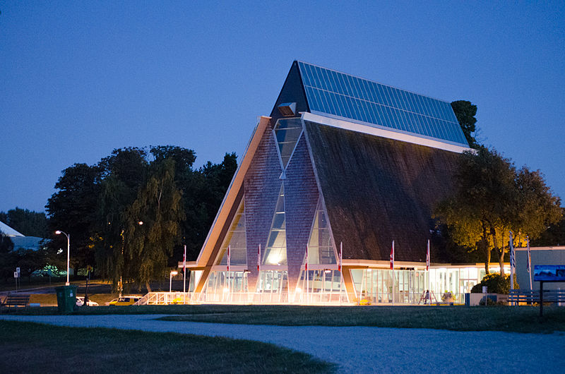 Vancouver Maritime Museum exterior at night