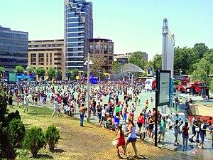 Vardavar - The water festival at the centre of Yerevan in 2014