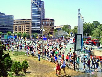 Vardavar - The water festival at the centre of Yerevan in 2014