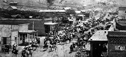 July 4 celebration in Ventura, 1874. Parade Marshal is Thomas R. Bard.