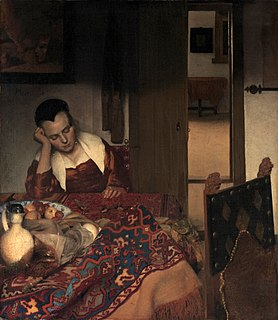<i>A Girl Asleep</i> painting by Johannes Vermeer