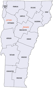 Outline Of Vermont Wikipedia - Vermont political map