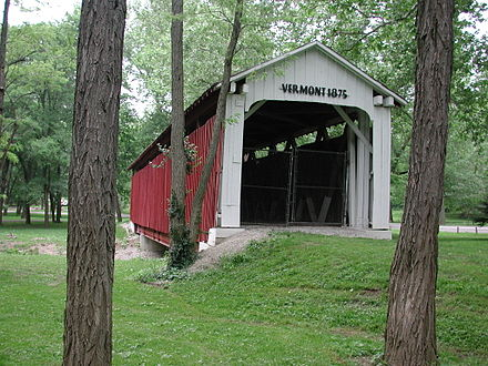 The Vermont Covered Bridge - Another attraction to be found in Highland Park Vermont Covered Bridge.jpg