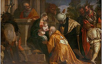 Gallery of Archduke Leopold Wilhelm in Brussels (Petworth) - Image: Veronese.Adoration Magi 01