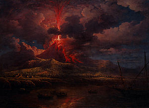 William Marlow - Vesuvius erupting at Night (1768)