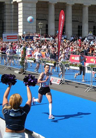 Günther Weidlinger - Weidlinger running in the 2009 Vienna Marathon