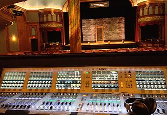 Audio signal flow - The view from the Front of House Position.