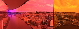 East Jutland metropolitan area - Core city Aarhus from Your Rainbow Panorama