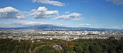 City view from Takasaki Kannon