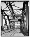 View of swing span looking northeast - India Point Railroad Bridge, Spanning Seekonk River between Providence and East Providence, Providence, Providence County, RI HAER RI,4-PROV,204-12.tif