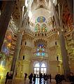 View of the transept towards the Nativity facade - Interior of Sagrada Família - Barcelona 2014.jpg