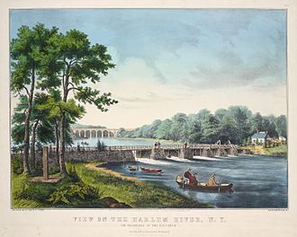 Currier and Ives - View on the Harlem River, N. Y., Currier and Ives, 1852