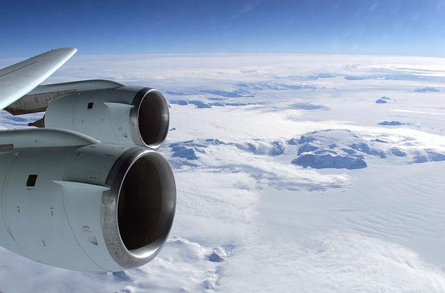 Vuelo sobre la Antártida