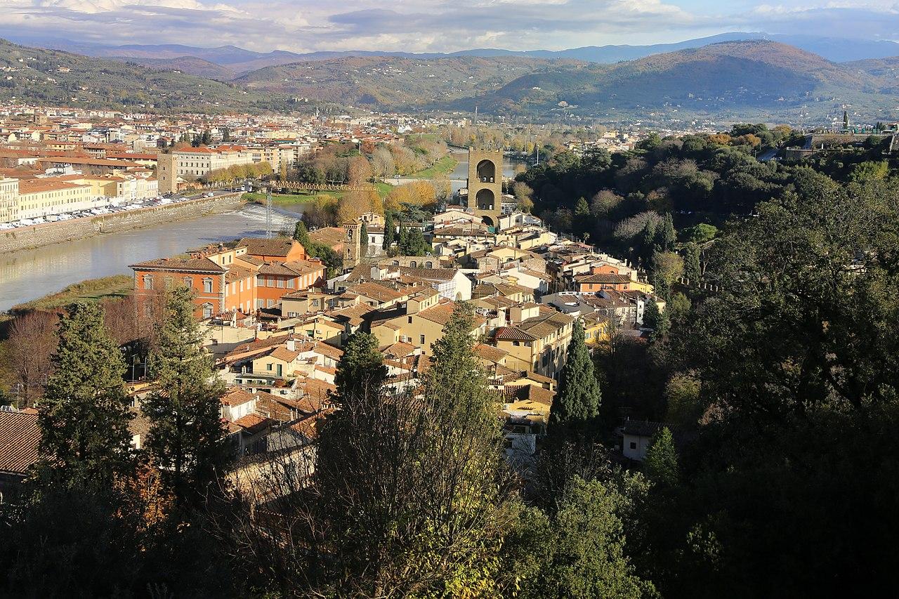 Firenze, Villa Bardini, veduta su San Niccolò