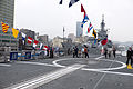 Visitors Aboarding ROCN Si Ning (PFG-1203) Flight Deck 20150316.jpg