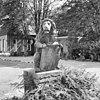 voorplein van het klooster, rechter leeuw (tuinbeeld) - nieuwkuijk - 20334871 - rce