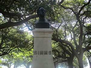 William Gilmore Simms - Simms' bust, unveiled in 1879, in The Battery in Charleston, South Carolina