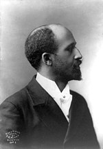 W. E. B. Du Bois, notable proponent of pan-Africanism, prominent intellectual leader and civil rights activist in the African-American community; co-founder of the Niagara Movement and the NAACP.