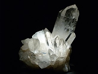 Ouachita Mountains - Cluster of Arkansas quartz crystals from the Ouachita Mountains