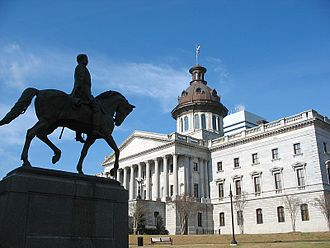Wade Hampton III - Statue of Wade Hampton at South Carolina State House