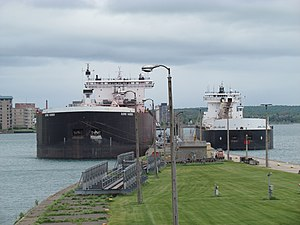 MV Burns Harbor - Image: Waiting their turn (7314835000)