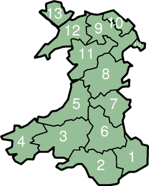 Counties of the United Kingdom - Historic counties of Wales