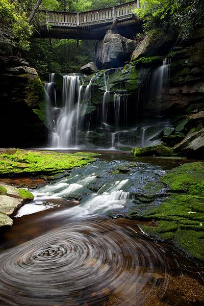 File:Walking-bride-spring-waterfalls - West Virginia - ForestWander.jpg