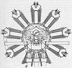Walter Jupiter IV, skica, pohled zezadu (1927).jpg