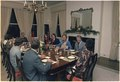Walter Mondale hosts a dinner party for Jimmy Carter and family. - NARA - 177200.tif